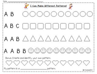 Pattern practice then, make your own and label it