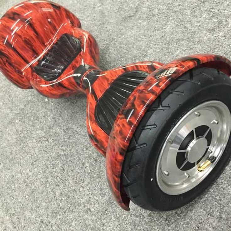 10 inch Flame Red Smart Balance Hoverboard With Bluetooth App Control for sale