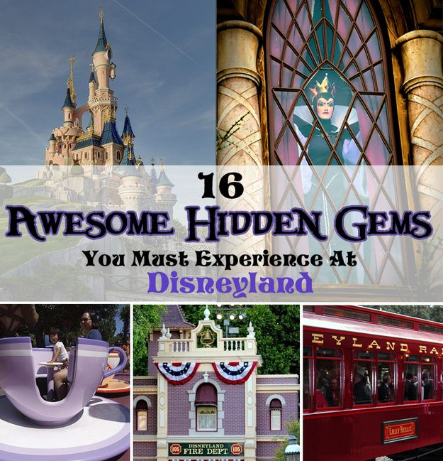 16 hidden gems you must experience at Disneyland. From real human skulls to hidden characters to free souvenirs! °o°