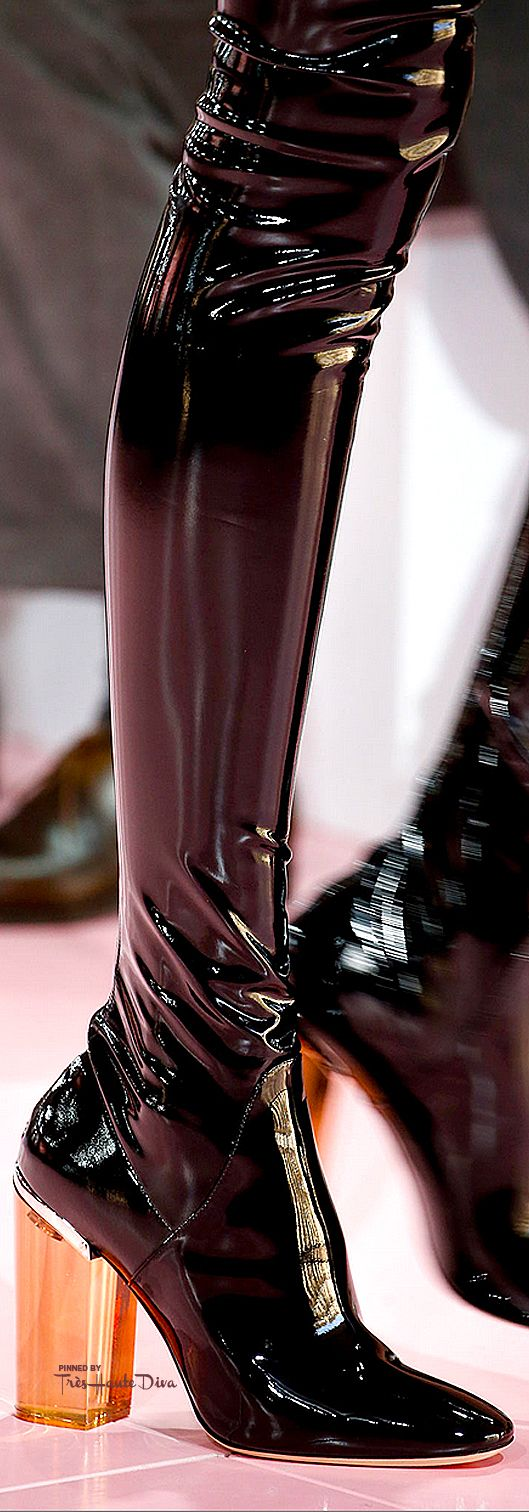 New Europe style rhinestone Man-made PU leather thick rough over the knee long high boots