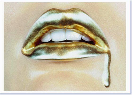 .24k gold lips....