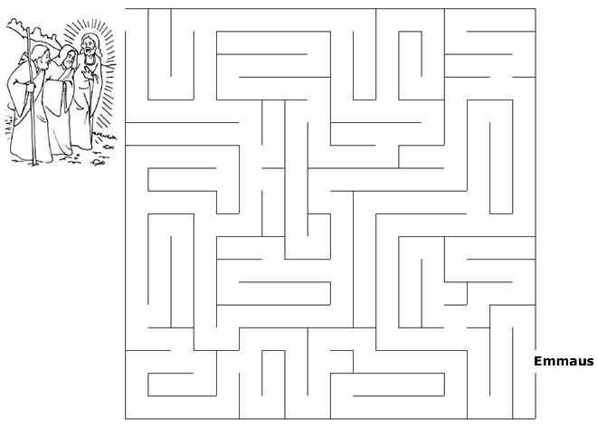 Road to Emmaus Maze - Sermons4Kids.com