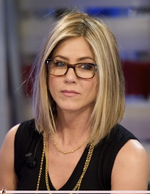 Jennifer Aniston lob and glasses