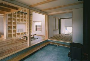 STD606「薪ストーブを囲む土間のある家」 - 木の住まい施工事例 シーエッチ建築工房:兵庫・大阪で木や自然素材の新築・リフォームなら