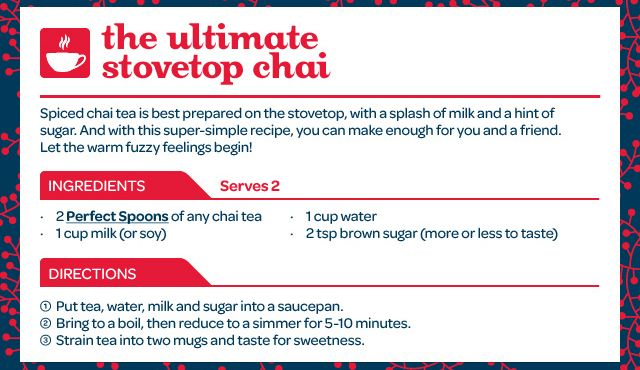 David's Tea - ultimate stovetop chai