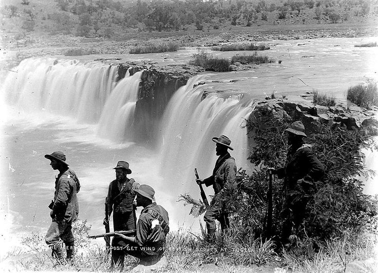 Boer scouts at the Tugela falls