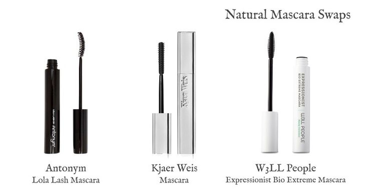 Swapping your old makeup for new, natural stuff? Here's three natural alternatives for Dior Diorshow Mascara. Options from Antonym, Kjaer Weis & W3LL People.