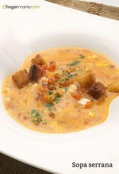 Karlos Arguiñano prepara sopa serrana, un plato típico de Málaga a base de jamón serrano, tomate, cebolla, almendra, ajo, huevo cocido y picatostes.