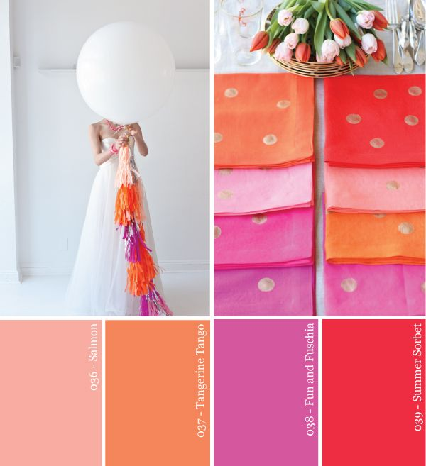 Have a fun summer wedding with these bright, punchy sorbet colors. Credit: studiodiy.com #summerwedding