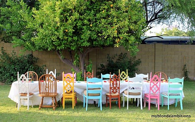 I thought about collecting old chairs for this very purpose. All I need is a yard to get started :)