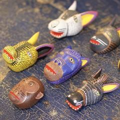 Medium Carved and Painted Animal Masks, Xuana