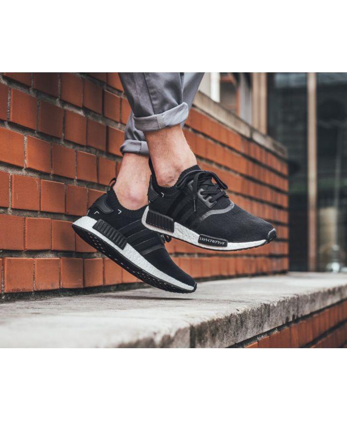 Chaussure Adidas NMD R1 Homme Primeknit Noir Core