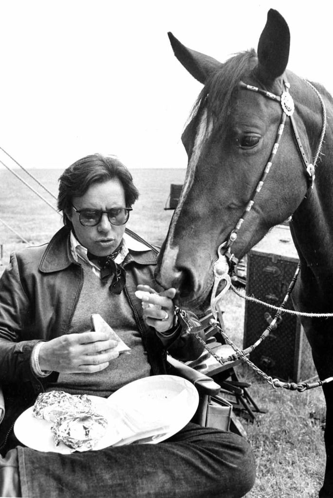 Peter Bogdonavitch with horse © Steve Schapiro
