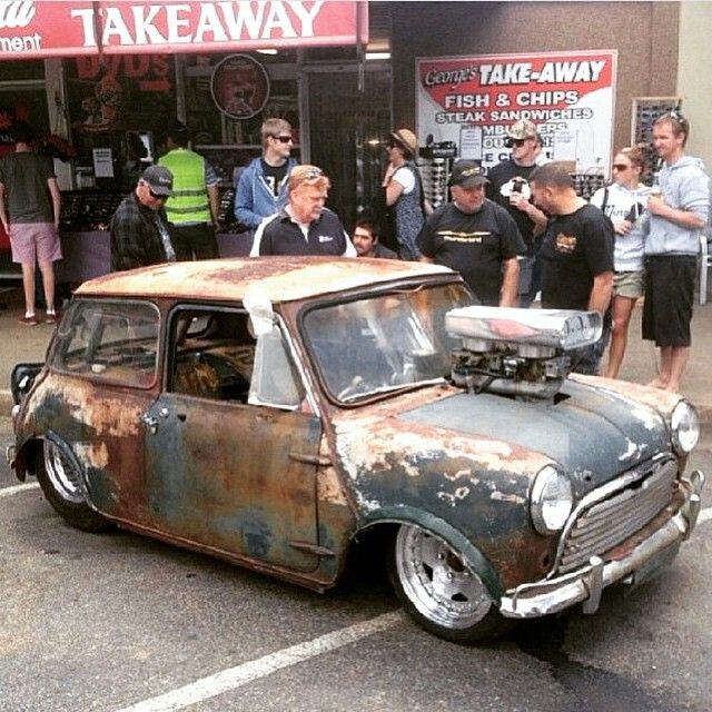 v8 mini cooper tubbed rat rod pro street hot rod cars. Black Bedroom Furniture Sets. Home Design Ideas