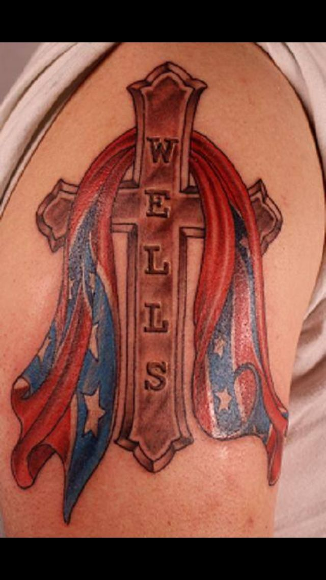 rebel flag with cross tattoo nephtali brugueras jt my
