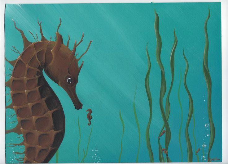 Curious baby seahorse by epsilon-says-hello