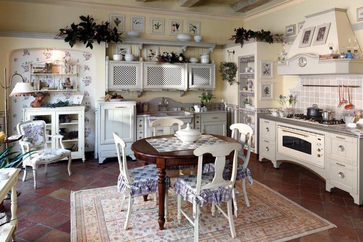 Картинки по запросу уютные кухни в деревенском стиле