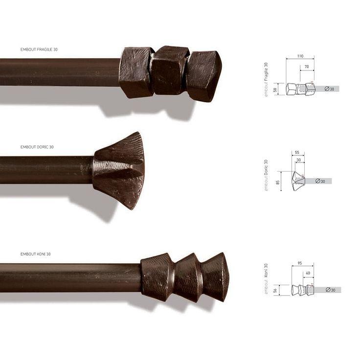 Vorhangstangen von Objet Insolite - Material: Bronze