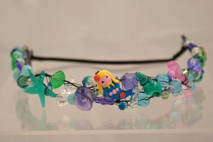 mermaid theme crown for my daughters birthday