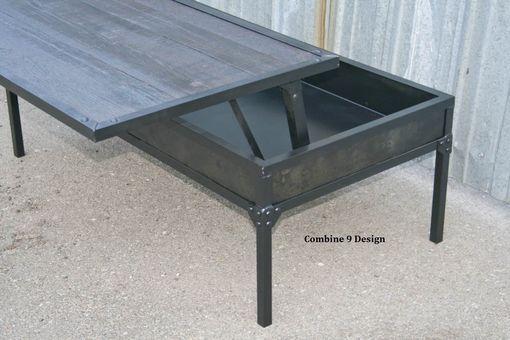 Custom Made Adjustable Height Coffee Table. Modern/Industrial. Steel/Reclaimed Wood. Urban. Vintage.