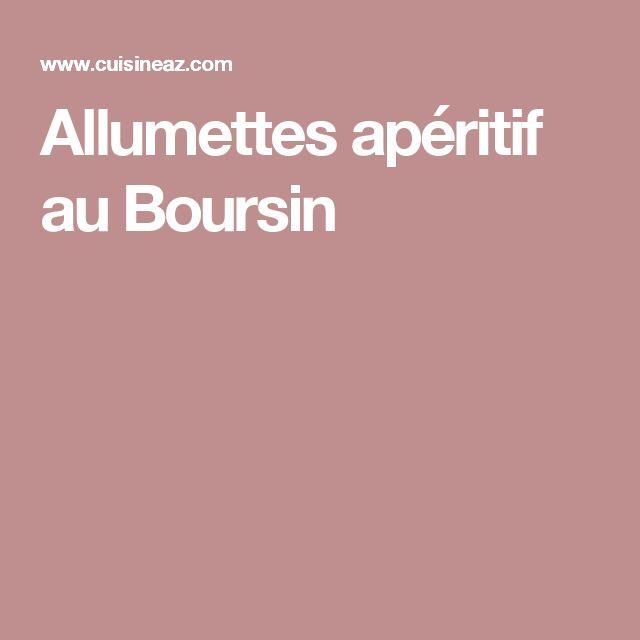 Allumettes apéritif au Boursin