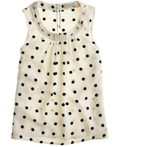 J.Crew Dotted silk shell
