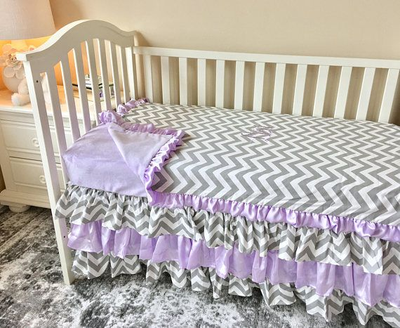 Grey Chevron Toddler Bedding Lavender Toddler Bedding Sets