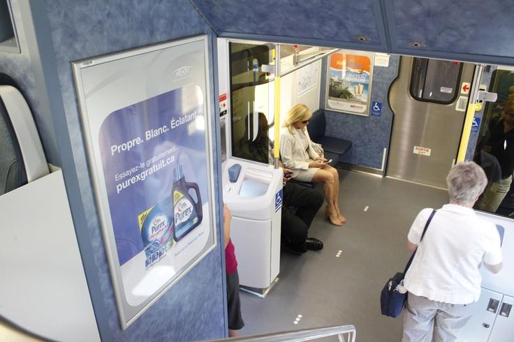 Montreal Commuter Trains /   Trains de banlieue Montréal #Trains #TrainStation #Poster #AstralOutOfHome #AstralAffichage #Publicite #Advertising #Ads #Billboard #PanneauAffichage #Montreal