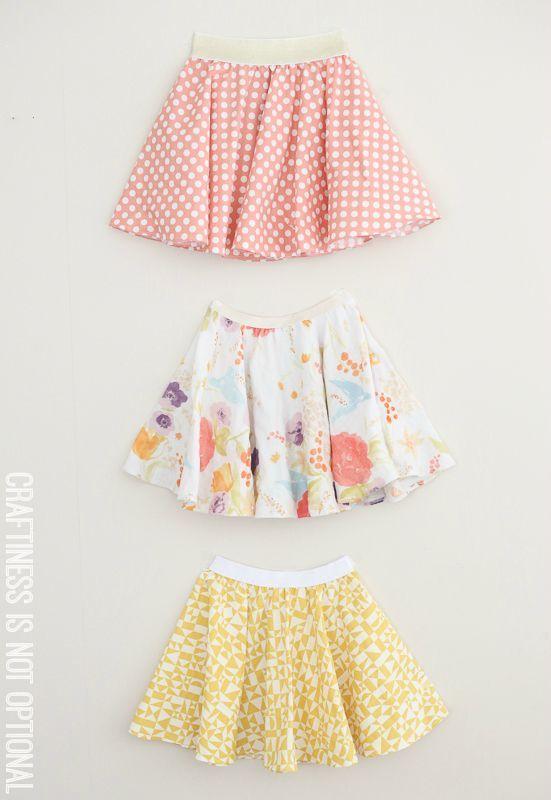 twirly twirly circle skirts :: craftiness is not optional
