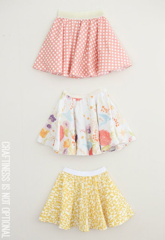 twirly twirly circle skirts :: craftiness is not optional