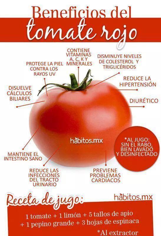 Beneficios del tomate rojo