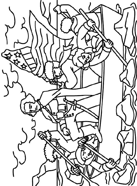 Fabulous Coloring Pages Of Presidents 77 Washington Crossing the Delaware