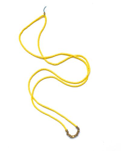 Yellow Layering Necklace