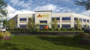 Ryan Companies US, Inc. completes 453,500 SF build-to-suit for Ashley Furniture Industries, Inc. | 1045 W Crossroads Pkwy, Romeoville, IL |  2014 Harris Architects, Inc. | Project finalist for the 2014 Industrial Development of the Year in the 27th Annual Awards for Excellence program of the Chicago Chapter of NAIOP | Commercial Real Estate