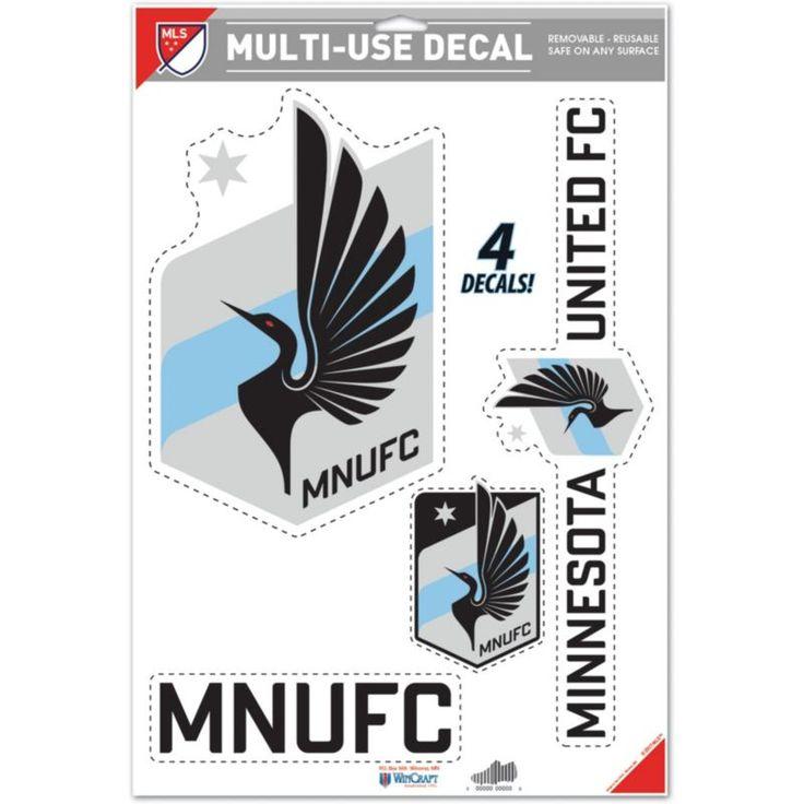 "WinCraft Minnesota United FC 11"" x 17"" Decal, Multi"