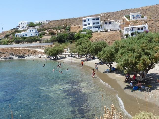 Loutra Beach in Kythnos features thermal waters