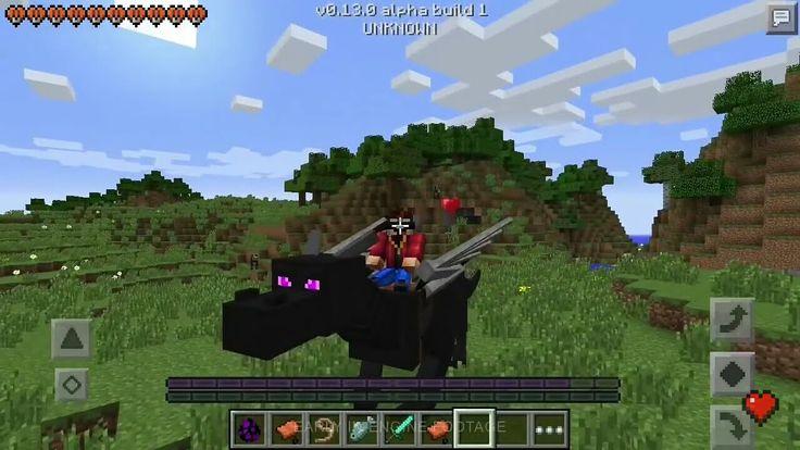 майнкрафт пе с драконами и лошадьми #1
