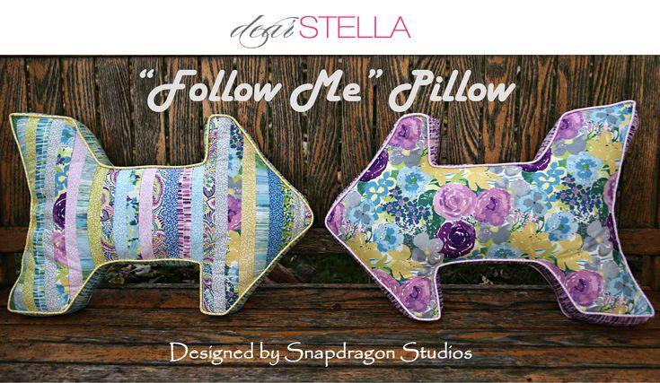 "FREE PATTERN: ""Follow Me"" Pillow featuring Sunday Morning | Dear Stella Design"