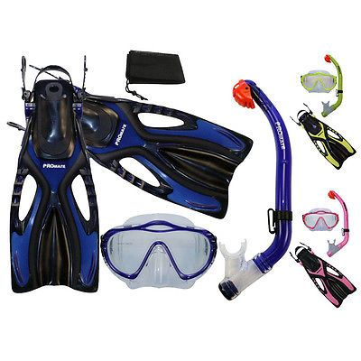 Fins 16054: Promate Junior Snorkeling Scuba Diving Mask Dry Snorkel Fins Gear Set For Kids -> BUY IT NOW ONLY: $39.95 on eBay!