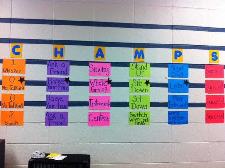 Elementary Music Classroom Decorations : Elementary music classroom champs chart education