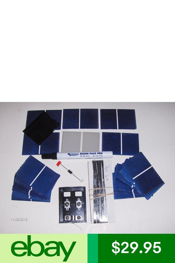 Electrical Solar Solar Cells Diy Kit 20 Watt Solar Panel Kit Cells Wires Jbx Flux Pen D Diy Solar Panel Solar Panel Technology Solar Panel Kits