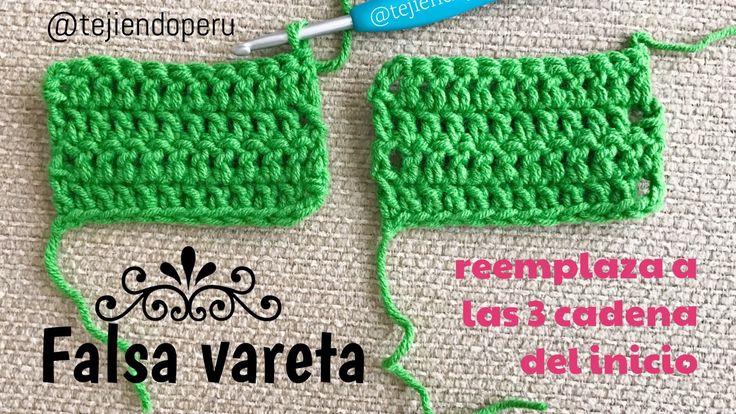 Falsa vareta: reemplaza a las 3 cadenas al inicio de las hileras en el tejido con varetas a crochet! Video paso a paso