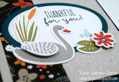"teojax: ""Thankful for You"" Swan Lake Thin Cuts card - close up, CTMH, Close to My Heart, Z4007 Thankful for You Thin Cuts Bundle, C1655 Thankful for You"