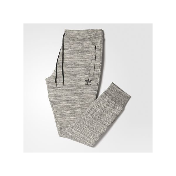 adidas Premium Trefoil Sweat Pants ($70) ❤ liked on Polyvore featuring men's fashion, men's clothing, men's activewear, men's activewear pants, grey, mens slim fit sweatpants, mens sweatpants, mens activewear, mens activewear pants and mens slim sweatpants