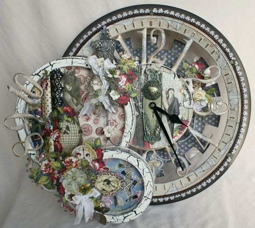 Miranda Edney's beautiful altered clock made out of Fashionista! Wow! #graphic45 #alteredart