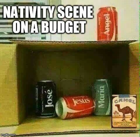 Nativity scene on a budget #BeginnersGuideToChristmas #Christmas #Humour                                                                                                                                                                                 More