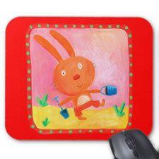 baby rabbit mousepads