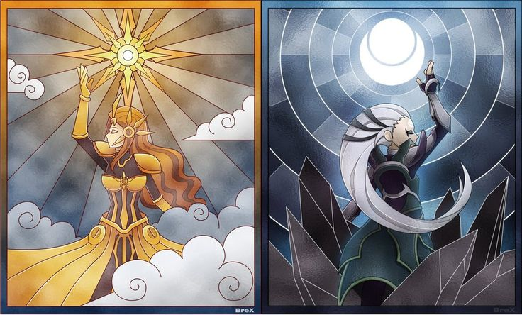 Leona and Diana: Sun vs Moon by EvarchaC on DeviantArt