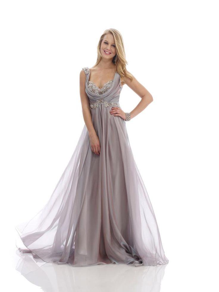 Pinterest Names Blush Pink And Mint Green As Its 2016: Morrell Maxie Evening Gown Shown In Light/ Coffee Color
