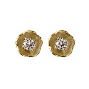 Afrodite studs - handmade 18kt and diamond stud earrings from NOMAD jewellery & accessories on Jewelstreet